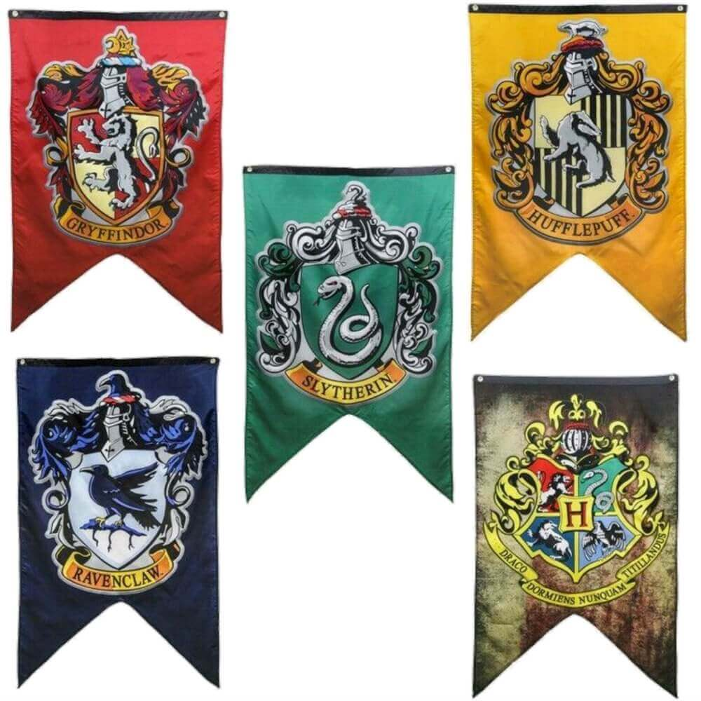 Wizard House Flags For Harry Potter Parties