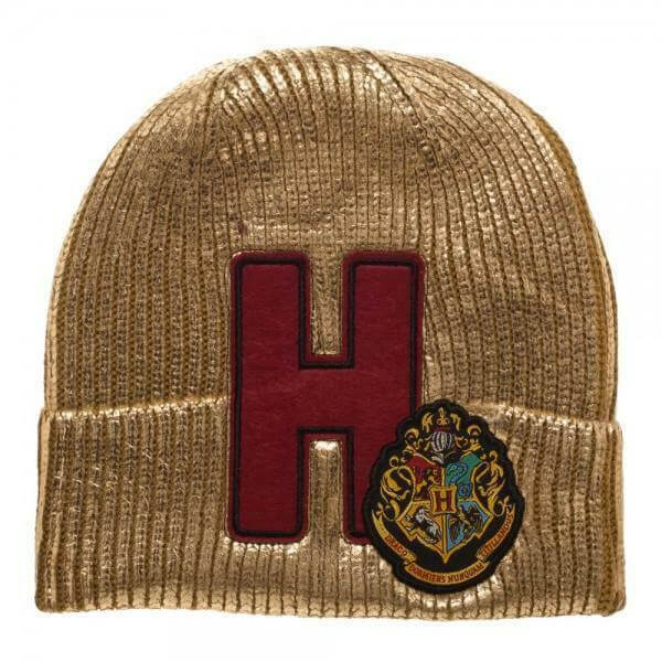 Harry Potter Gold Hogwarts Beanie Hat