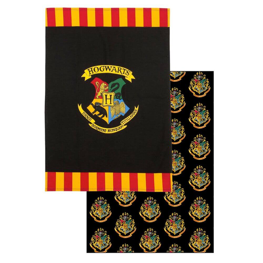 Harry Potter Hogwarts Tea Towel Twin Pack