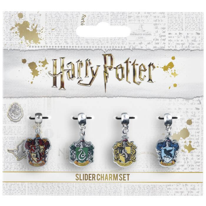 Harry Potter Hogwarts Houses Set Of 4 Slider Charms